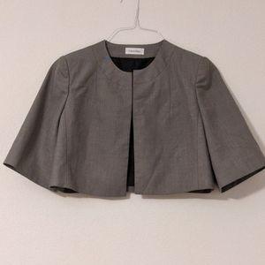 Calvin Klein cropped Gray Shrug